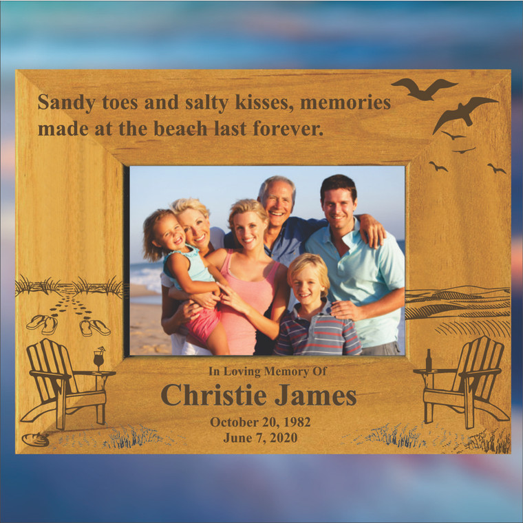 At The Beach Personalized Memorial Picture Frame