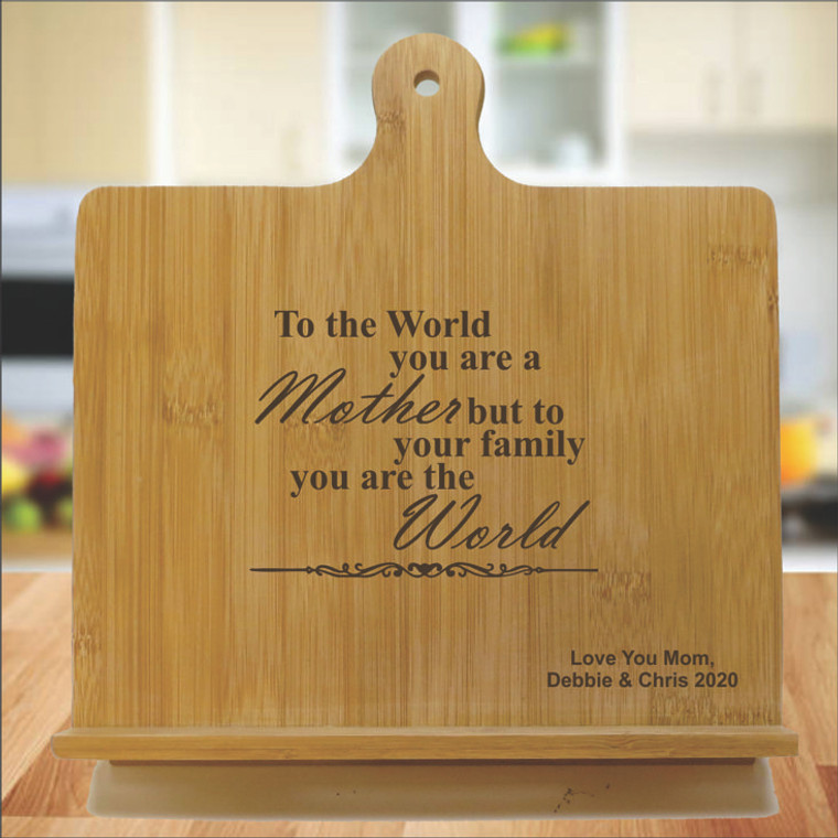 Mother You Are The World Personalized Chef's Easel