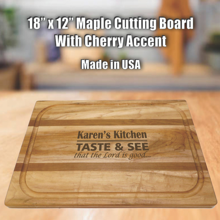 Taste And See That The Lord Is Good Personalized Cutting Board