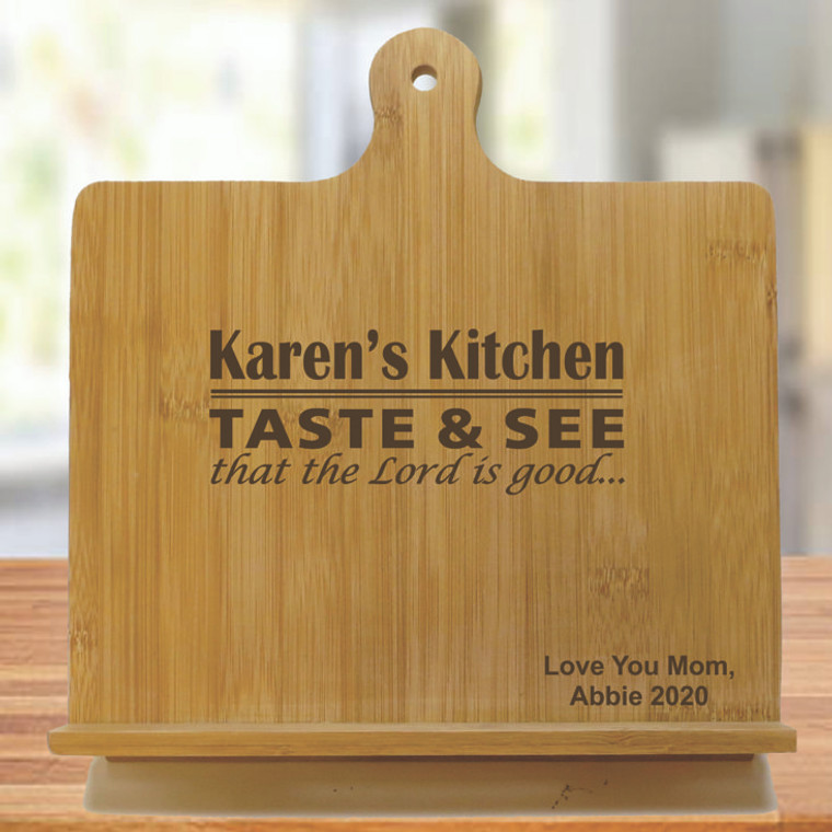 Taste And See That The Lord Is Good Personalized Chef's Easel