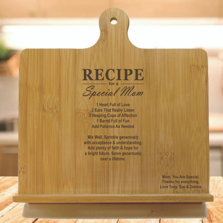 Recipe For A Special Mom Personalized Chef's Easel