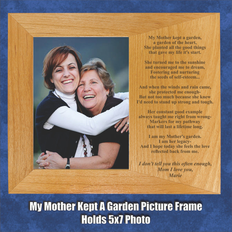 My Mother's Garden Personalized Picture Frame