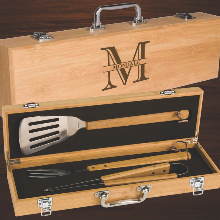 Monogram Personalized BBQ Tool Gift Set