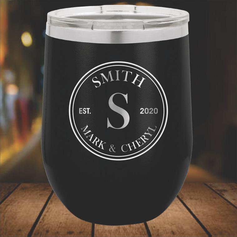 Monogram  Personalized Wine Tumbler  -  Vacuum Insulated