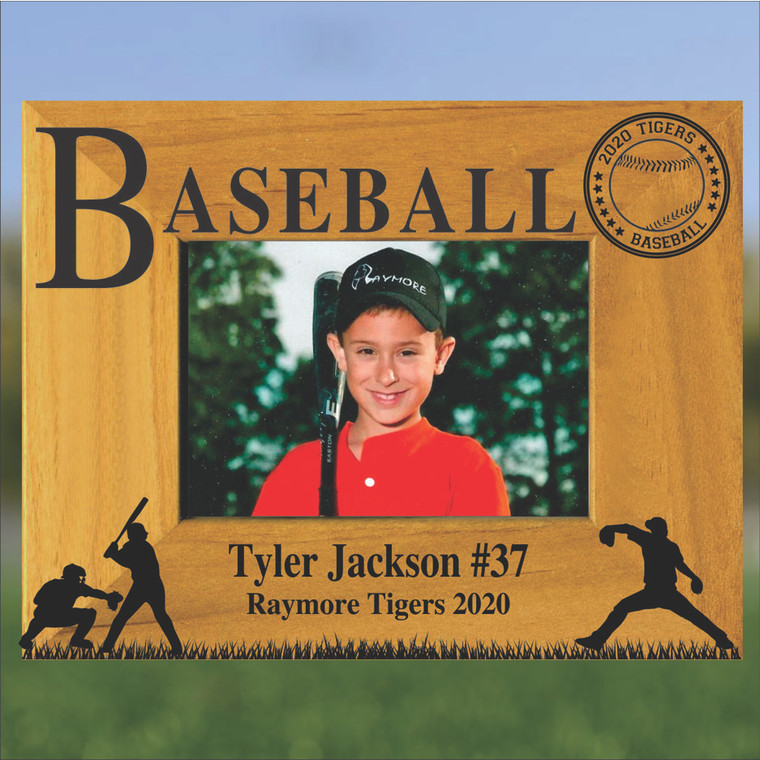 Baseball Personalized Picture Frame