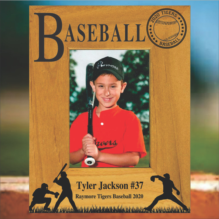 Baseball Personalized Picture Frame - Portrait