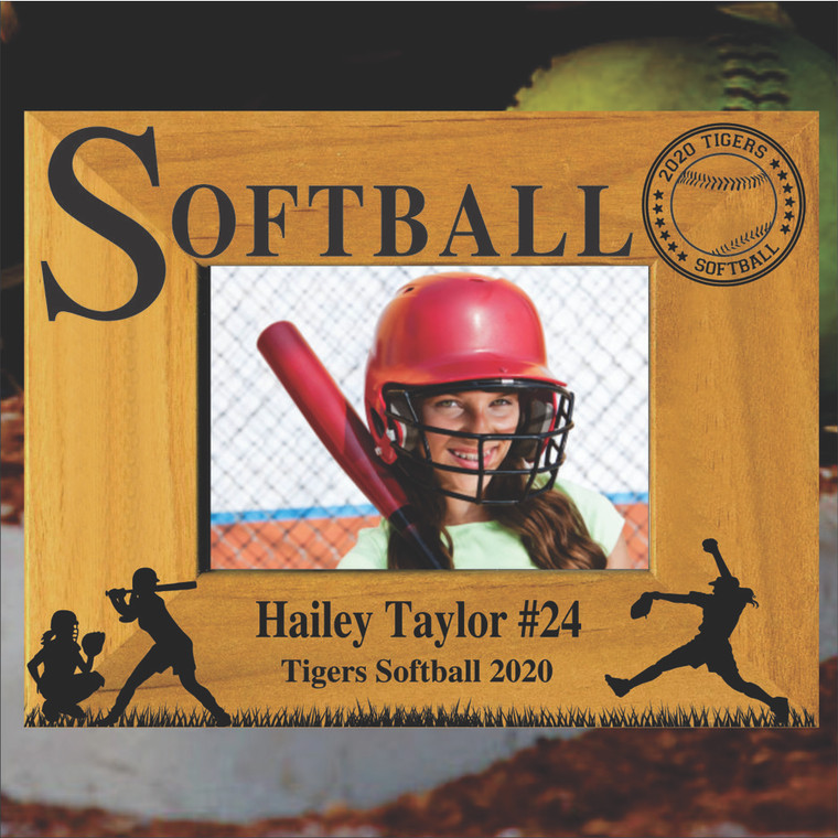 Softball Personalized Picture Frame