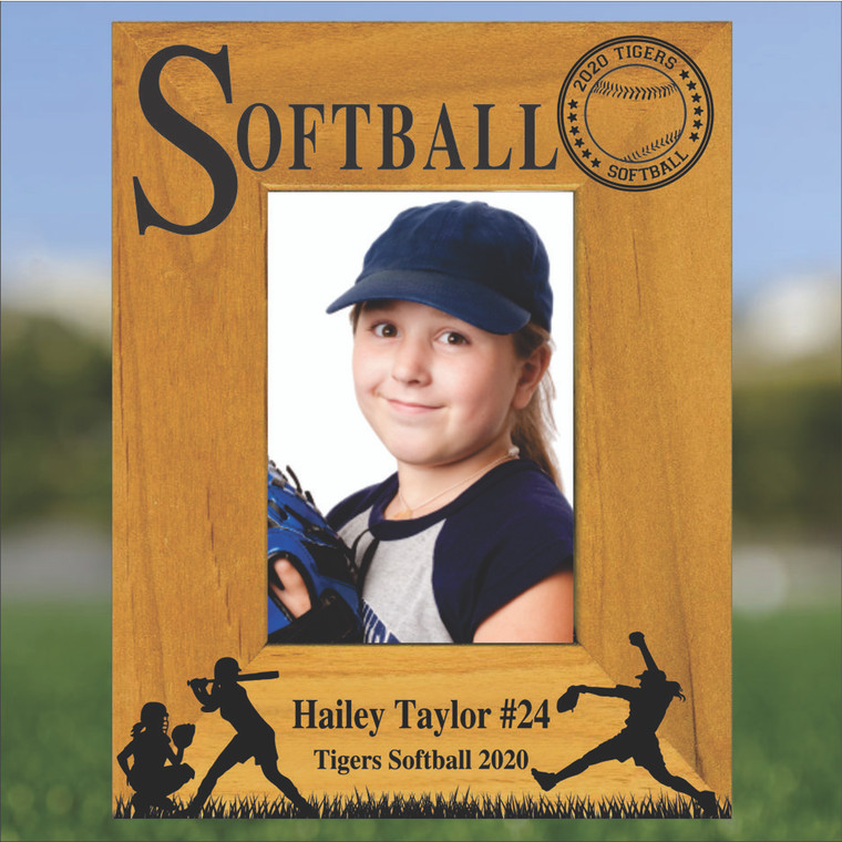 Softball Personalized Picture Frame - Portrait