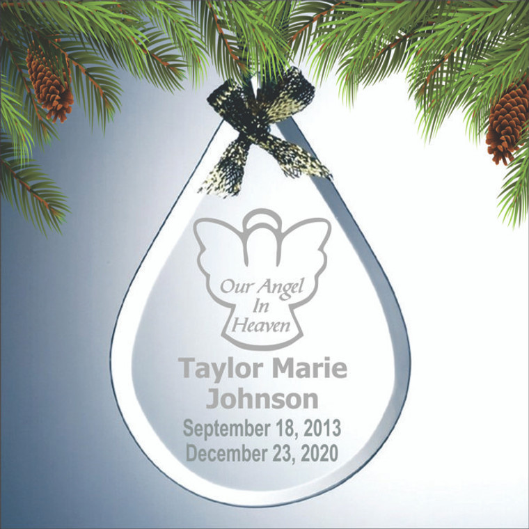 Our Angel In Heaven Personalized Memorial Ornament
