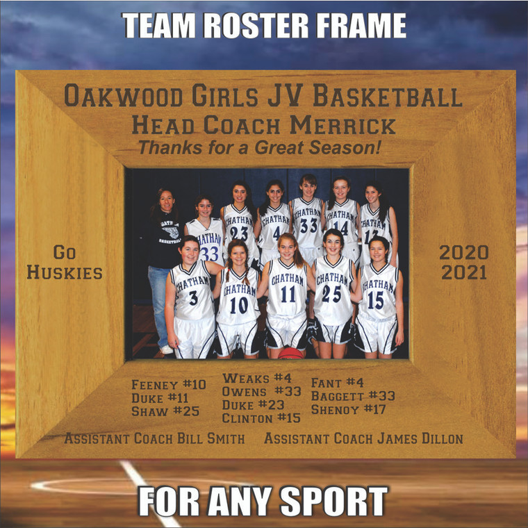 Team Roaster Personalized Picture Frame - Thank You Coach Gift
