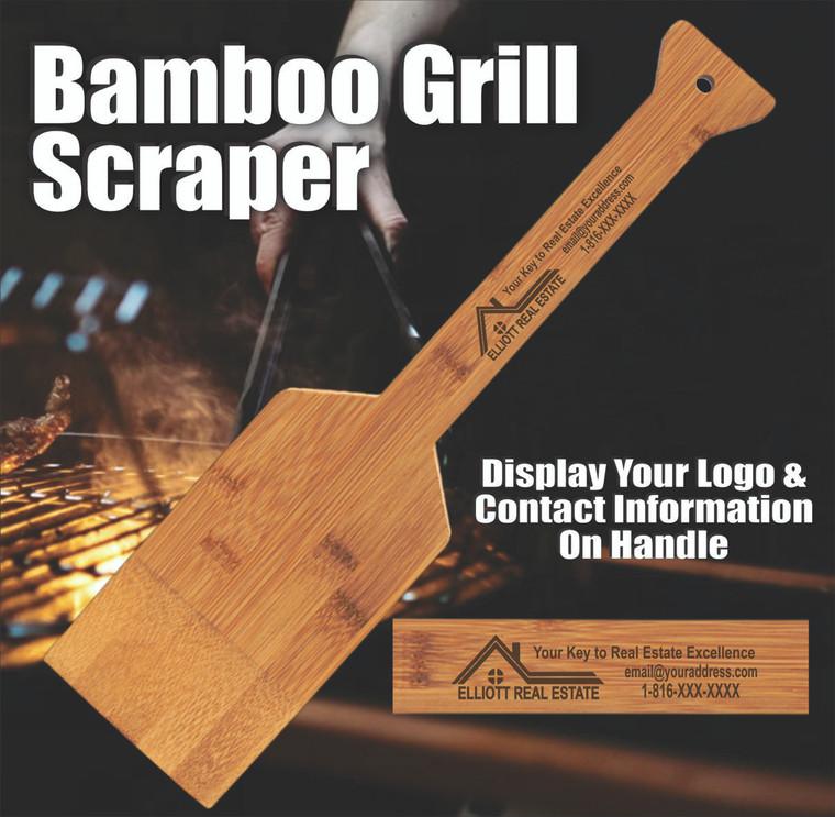 Custom Personalized Bamboo Grill Scraper