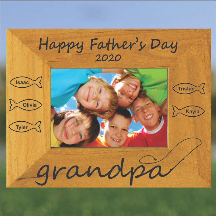 Grandpa's Catch Personalized Picture Frame - Father's Day, Any Occasion