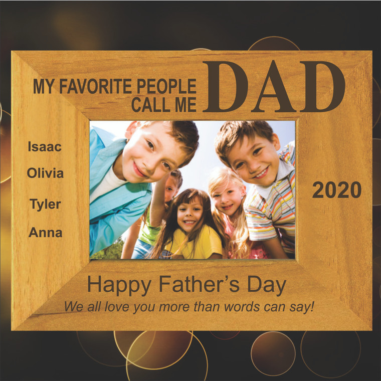 My Favorite People Call Me Dad Personalized Picture Frame