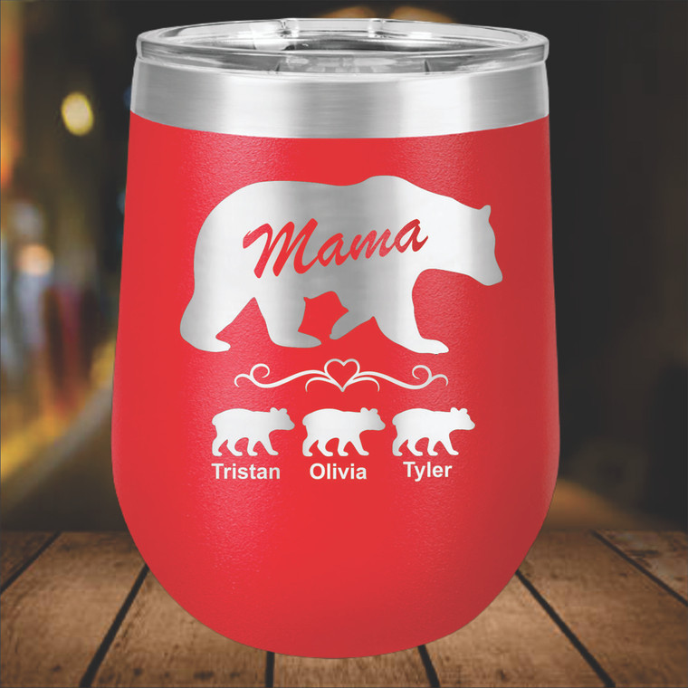 Mama Bear Personalized Wine Tumbler