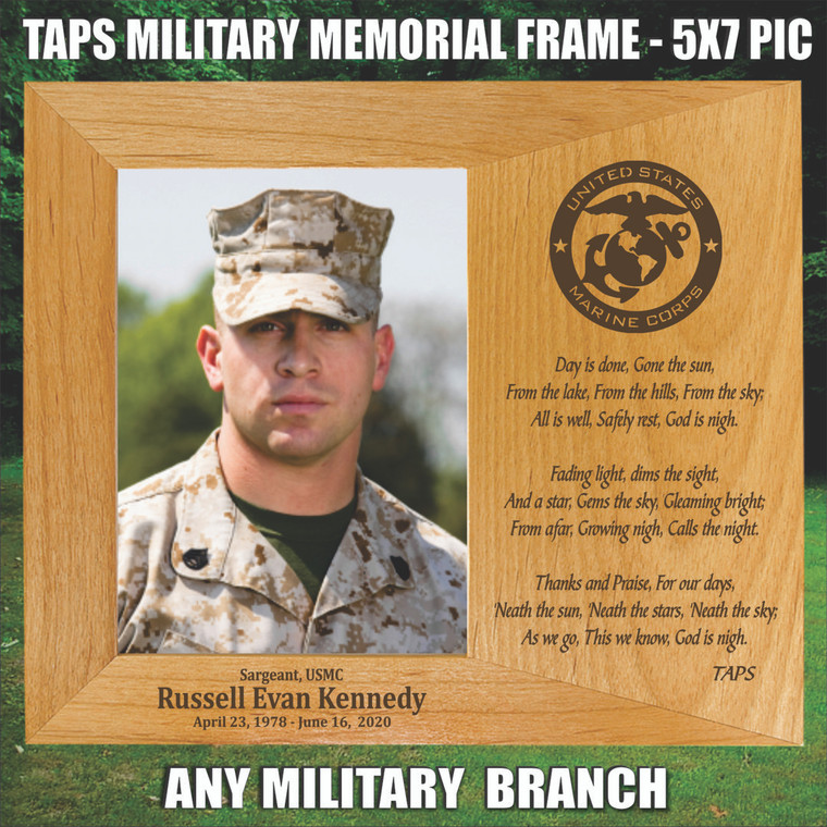TAPS Personalized Military Memorial Picture Frame