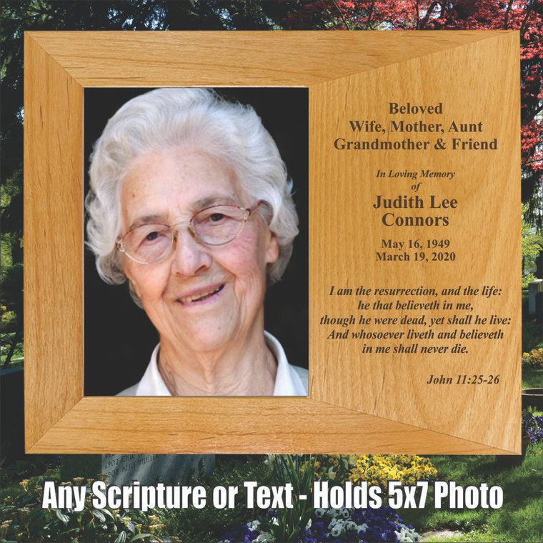Personalized Memorial Picture Frame With Any Bible Verse & Text