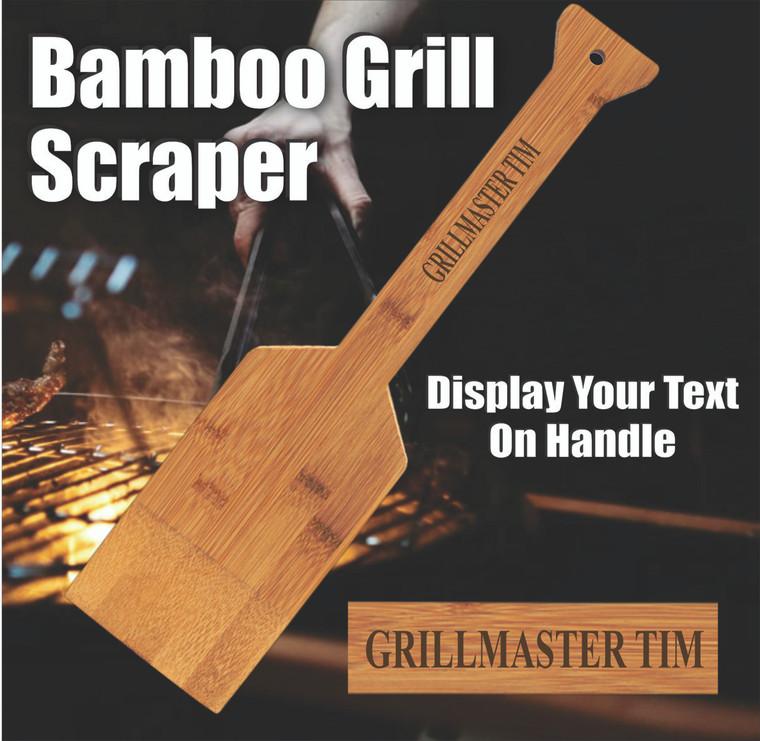 Personalized Bamboo Grill Scraper