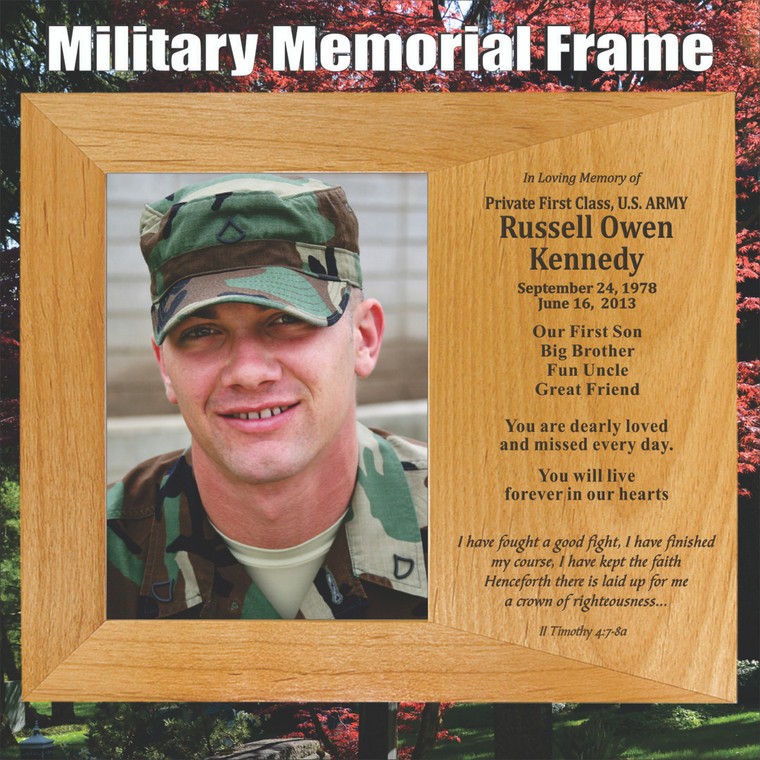 Personalized Military Memorial Picture Frame
