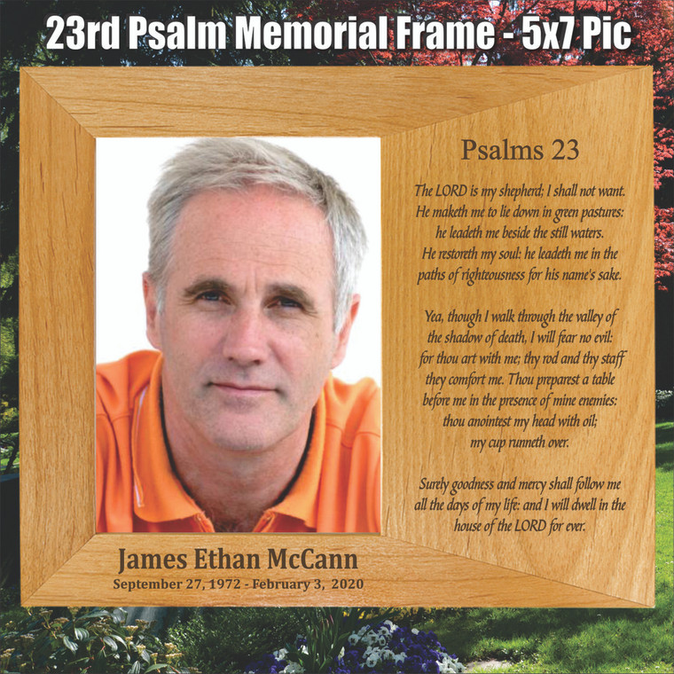 23rd Psalm Memorial Personalized Picture Frame