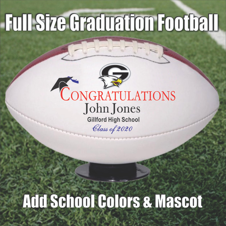 Personalized Graduation Football - Full Size