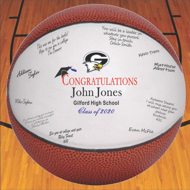 Graduation Autograph Basketball