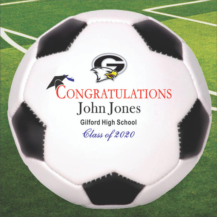 Personalized Graduation Soccer Ball - Full Size