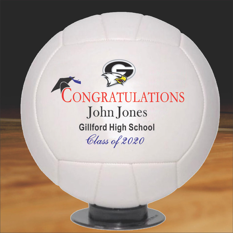Personalized Graduation Volleyball - Full Size