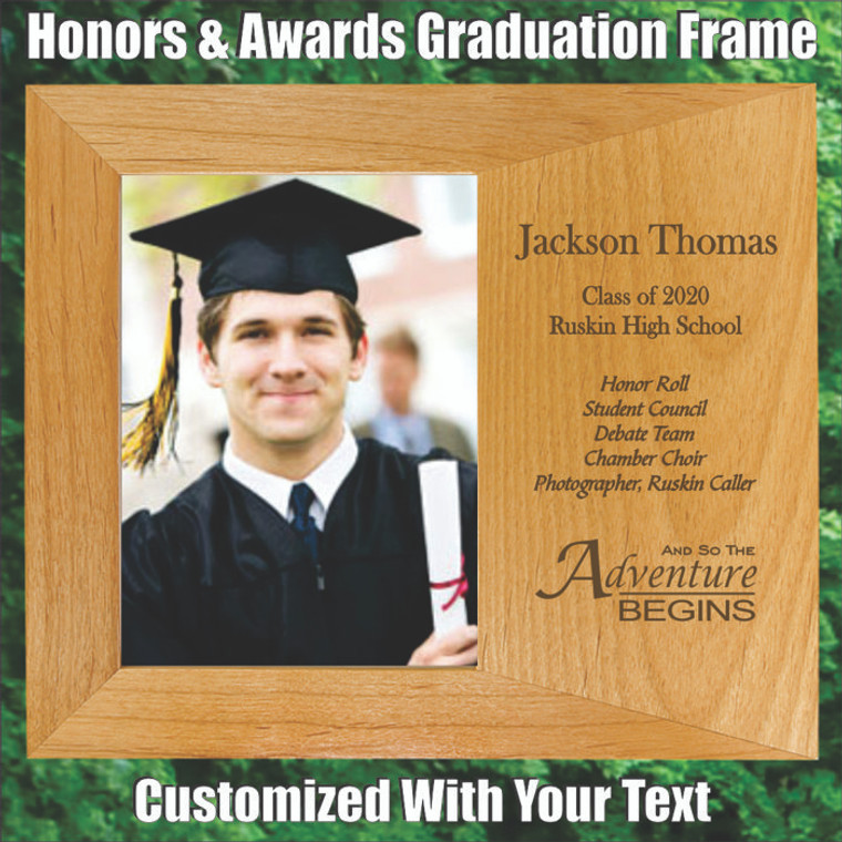 Honors & Awards Personalized Graduation Picture Frame