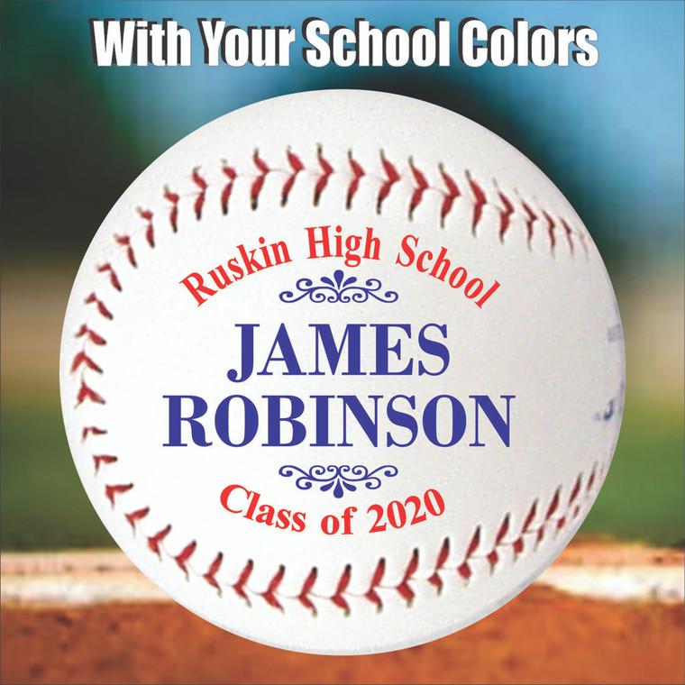 Personalized Graduation Baseball