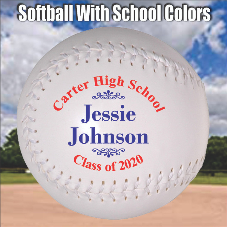 Personalized Graduation Softball