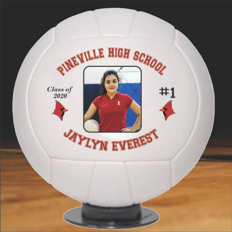 Graduation Photo Volleyballs