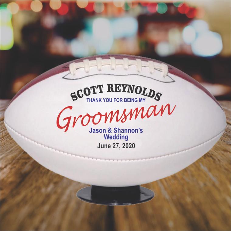 Personalized Groomsman Football