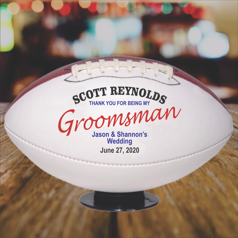 Personalized Groomsman Football