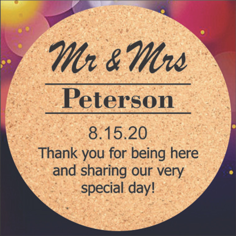 Mr. & Mrs. Wedding Favor Coasters