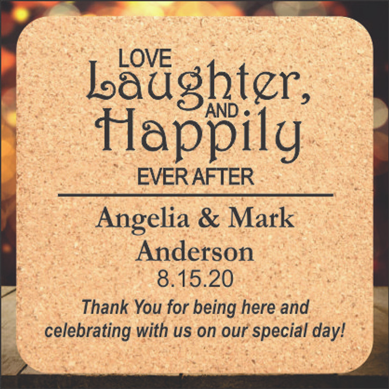 Love Laughter and Happily Ever After Wedding Favors