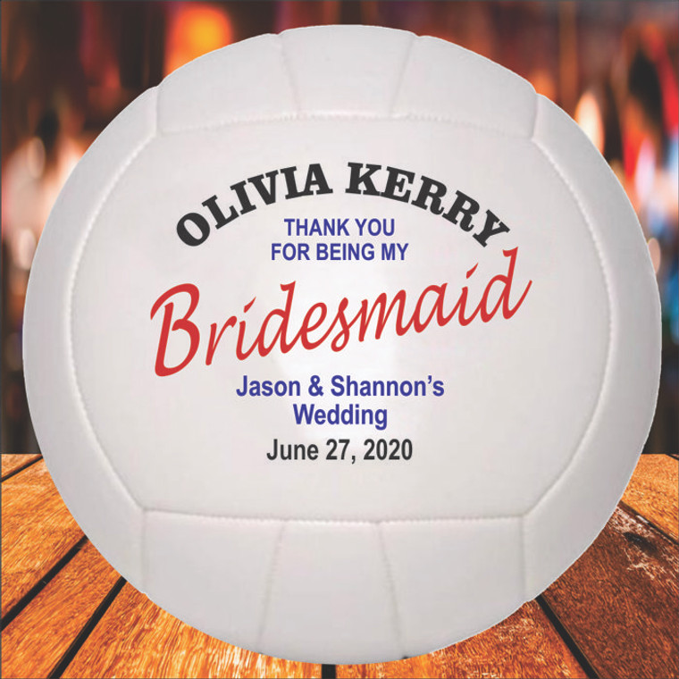 Bridesmaid Personalized Volleyball