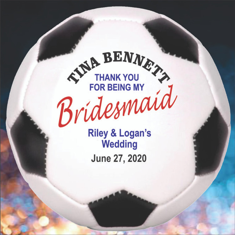Bridesmaid Personalized Soccer Balls