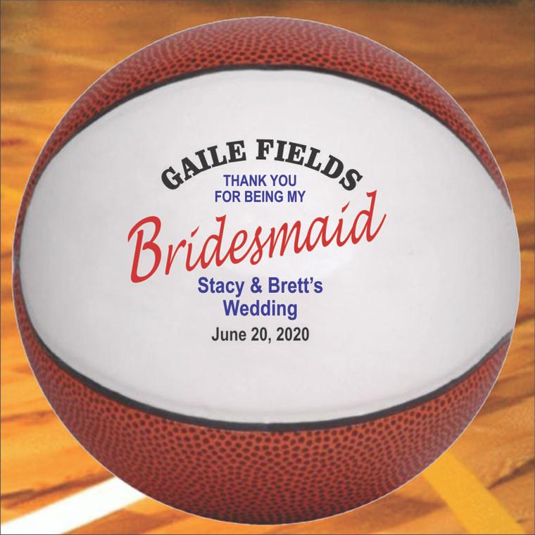 Bridesmaid Personalized Basketball