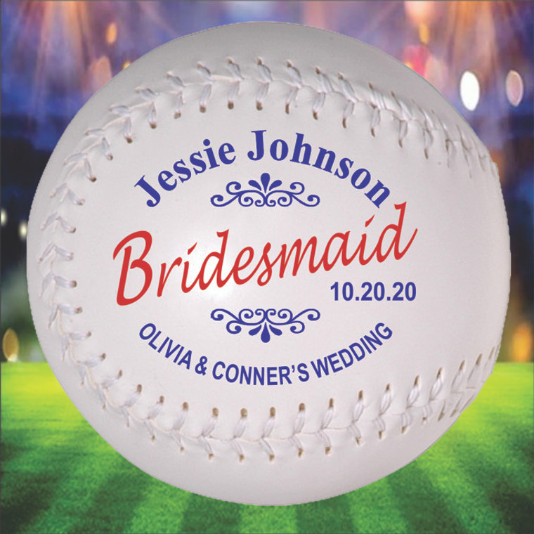 Bridesmaid Personalized Softball