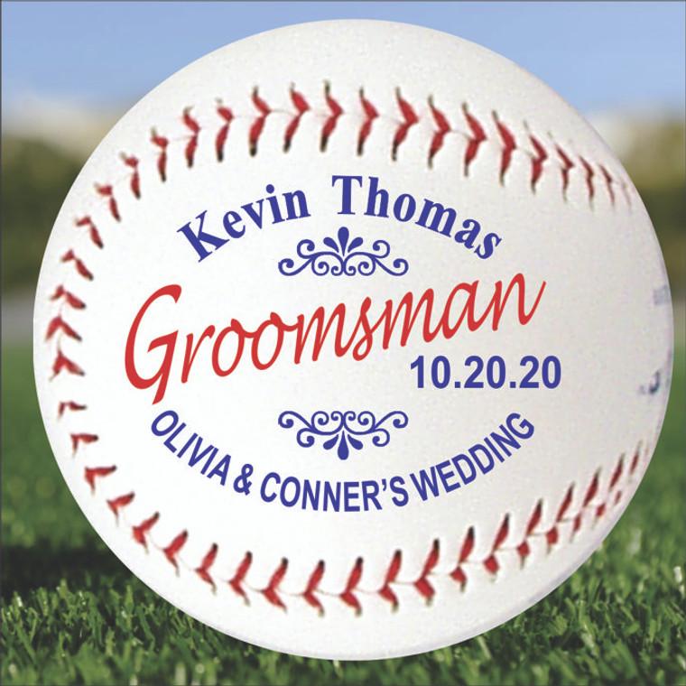Groomsman Personalized Baseball