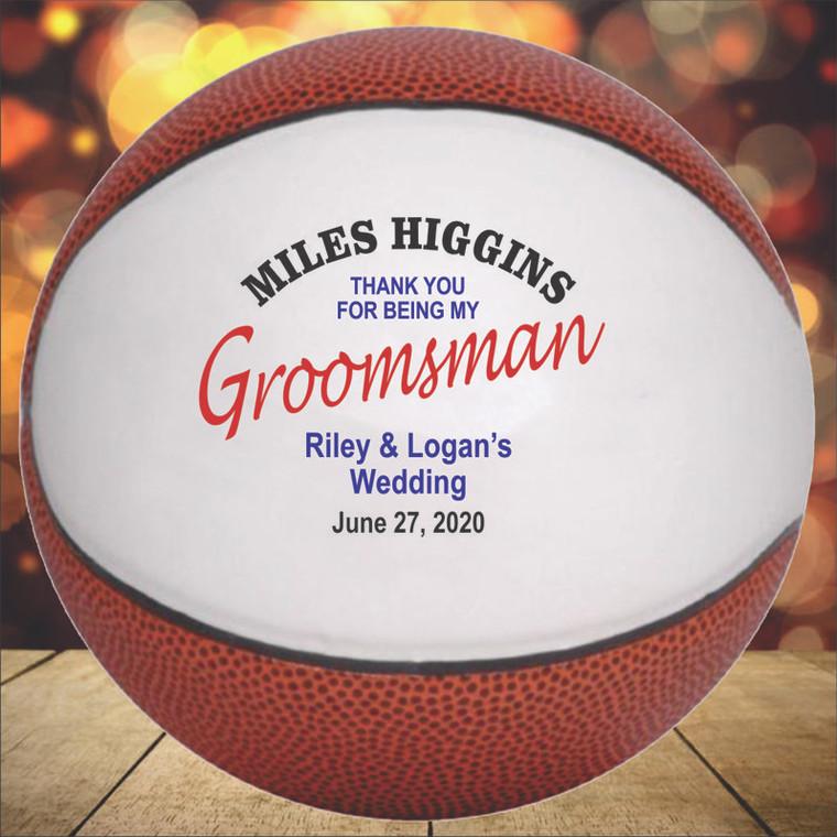 Groomsman Personalized Basketball