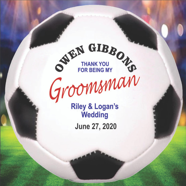 Groomsman Personalized Soccer Ball