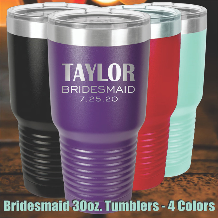 Bridesmaid Personalized Drink Tumbler