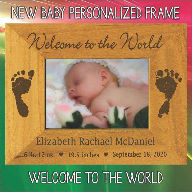 Welcome to the World New Baby Personalized Picture Frame