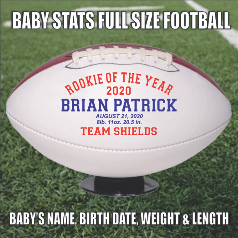 Baby Stats Rookie of the Year Full Size Football