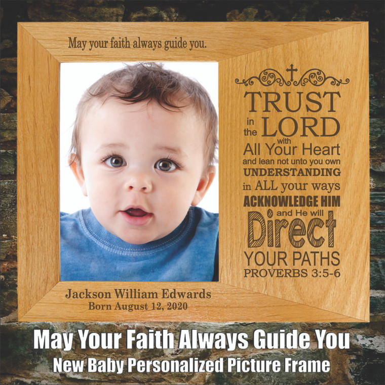 May Your Faith Always Guide You New Baby Picture Frame