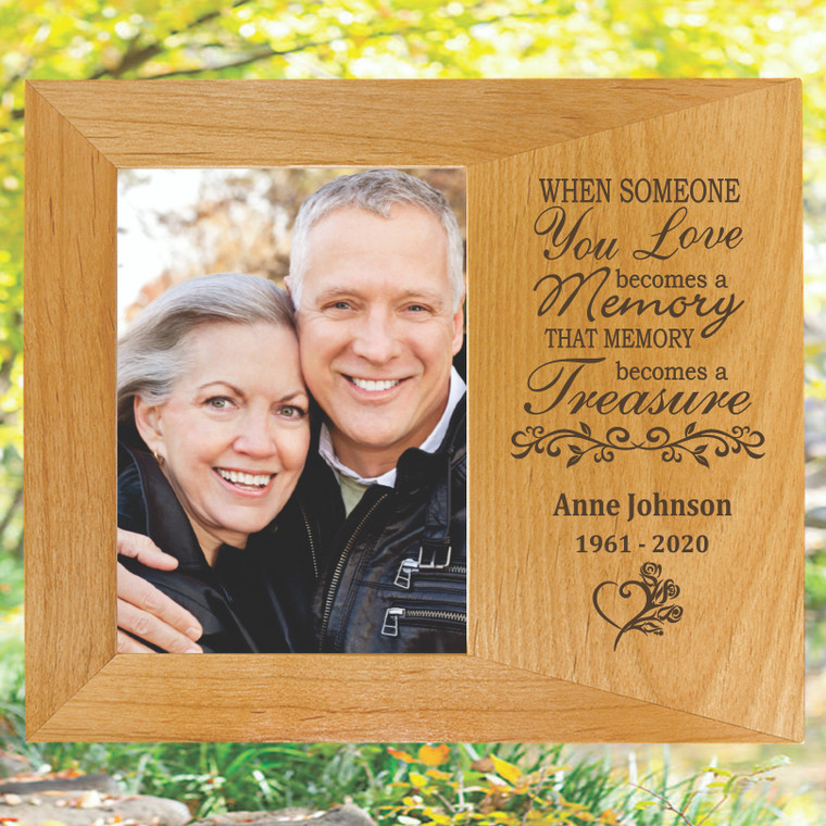Your Memory Has Become Our Treasure Memorial Picture Frame