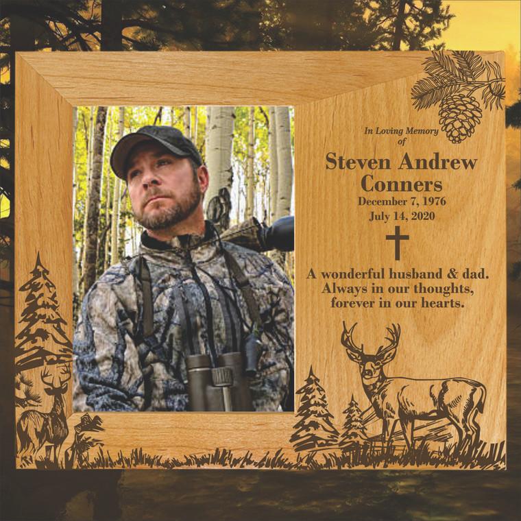 Deer Hunter Personalized Memorial Picture Frame
