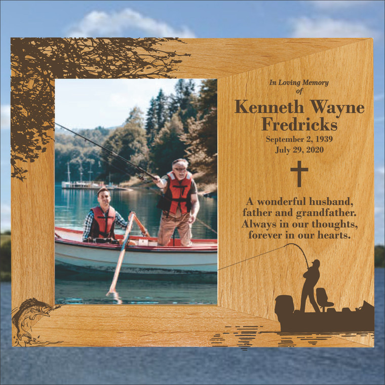 Fishing Personalized Memorial Picture Frame