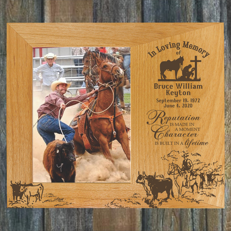 Cowboy Personalized Memorial Picture Frame